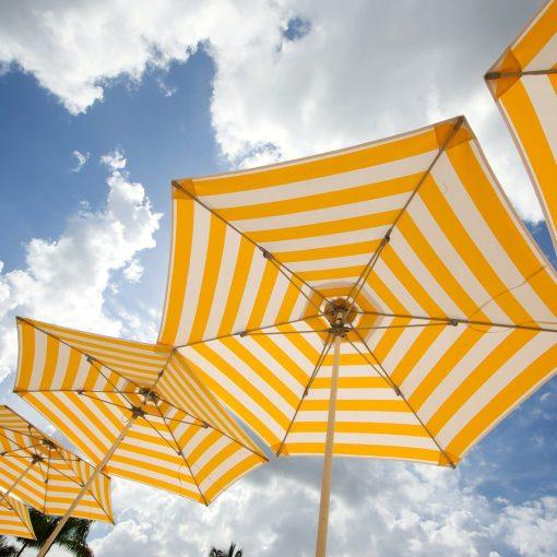 Bay Master Classic Tuuci Umbrella, Commercial - Yellow Stripe