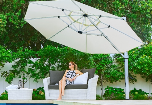 Frankford Eclipse Umbrella, Relaxing - White