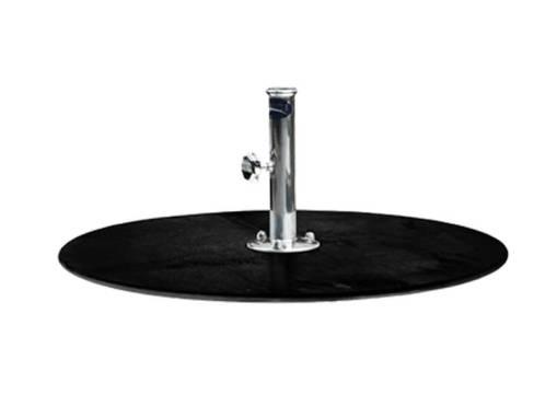 G Plate Circular Powdercoat, Black