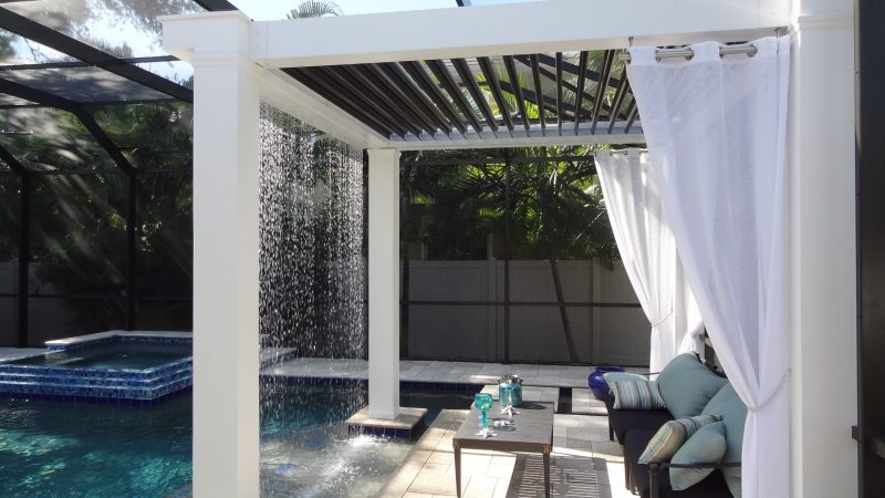 Struxure Motorized Louvered Pergola, Residential - Poolside