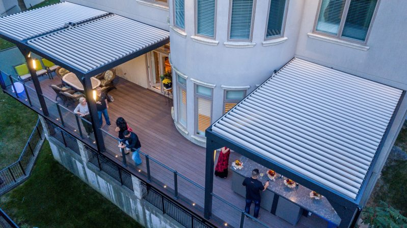 Stuxure Louvered Pergola, Residential Grade - Three System