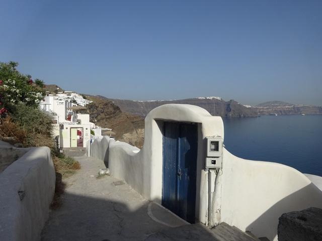 Oia Santorini Greece, Blue Sky and Wine