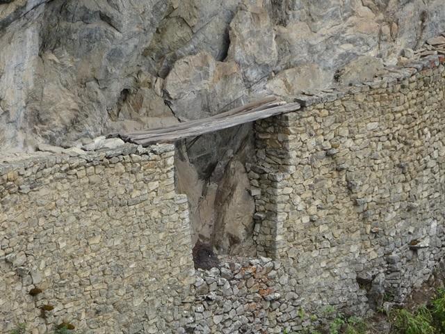 Inca bridge, Machu Picchu, Peru, Blue Sky and Wine