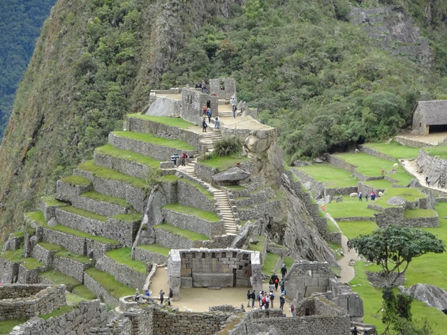Machu Picchu, Peru, Blue Sky and Wine