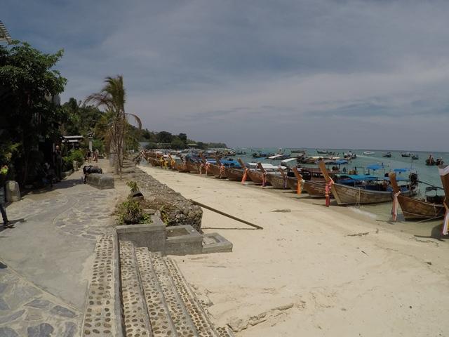 Tonsai Pier, Phi Phi Island, Thailand, Blue Sky and Wine