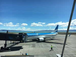 Blue Sky and Wine, El Calafate airport, Argentina