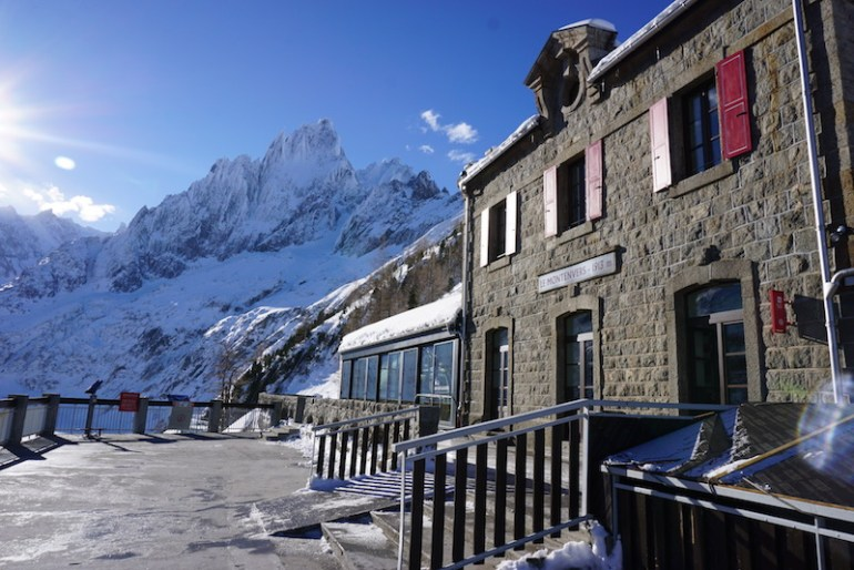 Montenvers Mer de Glace, Blue Sky and Wine Travel Blog