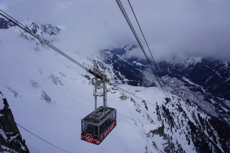 Brevent-Flegere cable car, Blue Sky and Wine Travel Blog