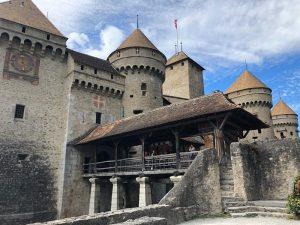 Chillon Castle, Geneva trip, Blue Sky and Wine