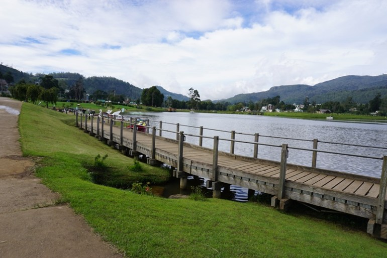 Gregory Lake in Nuwara Eliya, Sri Lanka, Blue Sky and Wine
