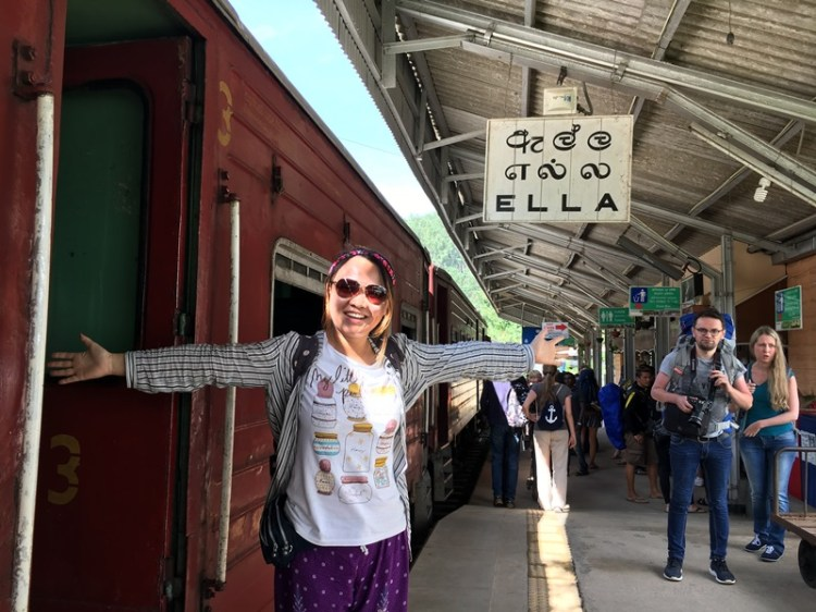 Ella railway station, Sri Lanka, Blue Sky and Wine