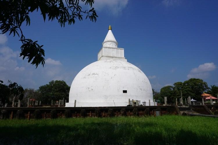 Pagoda by Tissa Lake, Tissamaharama, Sri Lanka, Blue Sky and Wine