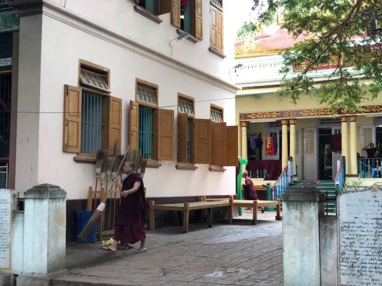 Monk's breakfast mahagandhayon Monastery, amarapura