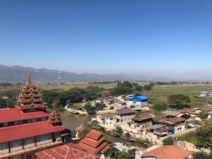 View from The Hotel Emperor-Inle Inle Lake Myanmar, Inle Lake Myanmar, Blue Sky and Wine