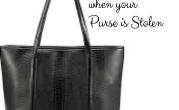 5 Tips to Lessen the Blow when your Purse is Stolen