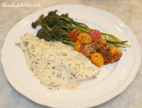 Weeknight wednesday easy mustard roasted fish bluesky for Ina garten mustard fish