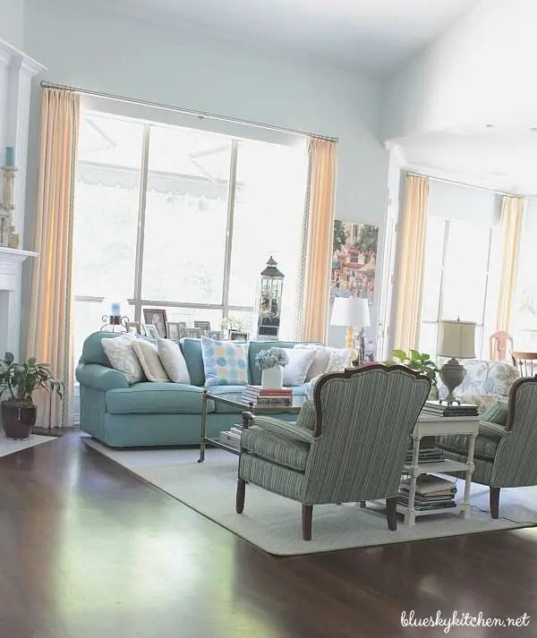 Coastal Farmhouse Living Room Bluesky At Home