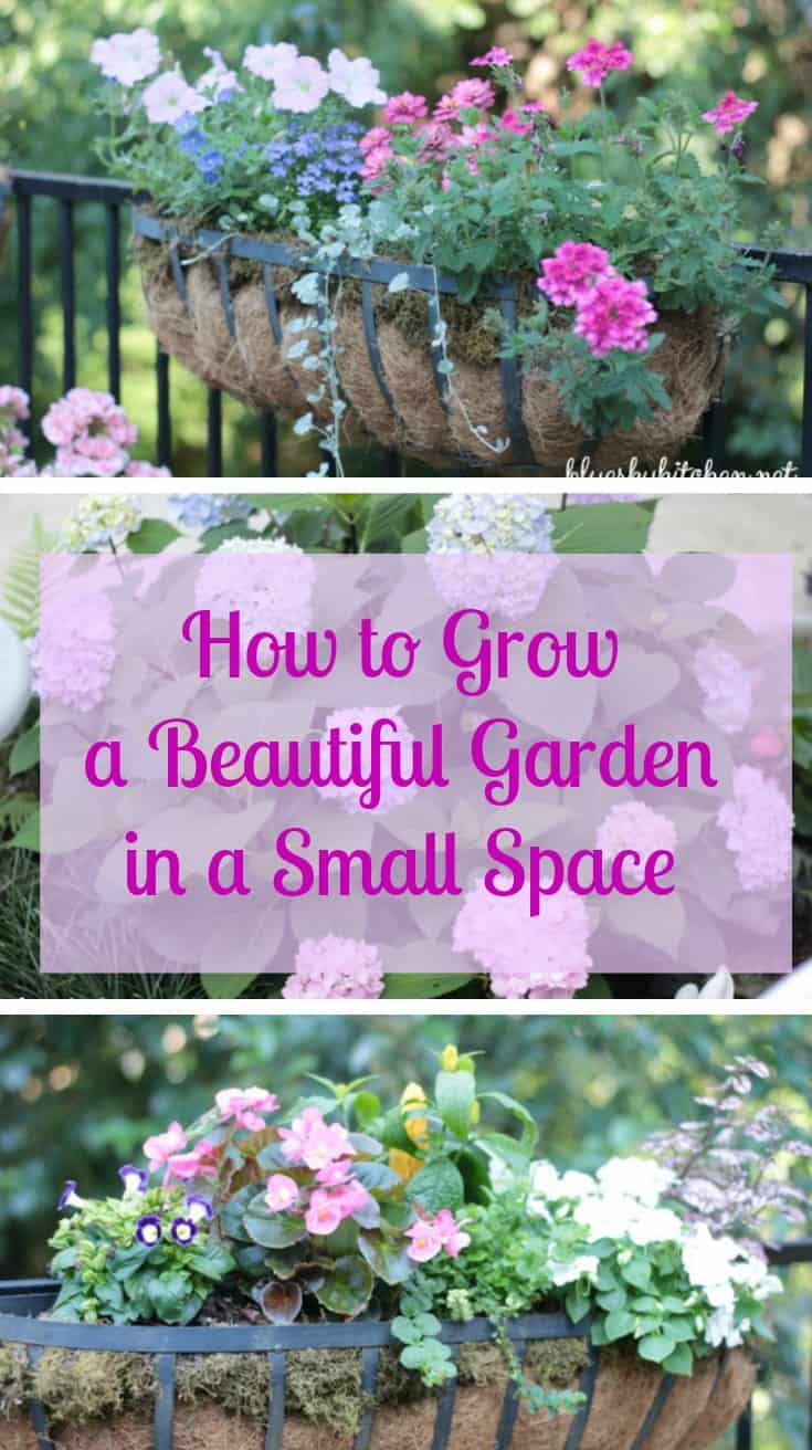 How to grow a beautiful garden in a small space. See how a flower garden