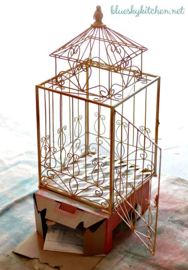 birdcage before painting