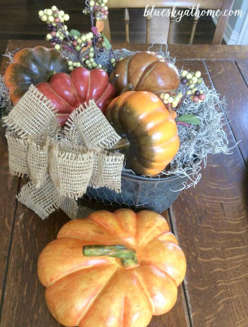 How to Chalk Paint Pumpkins to Fit Your Fall Decor. Easy project to transform pumpkins into ones that match your fall decor. BlueskyatHome.com