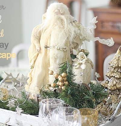 Silver and Gold Tablescape Shines for the Holidays