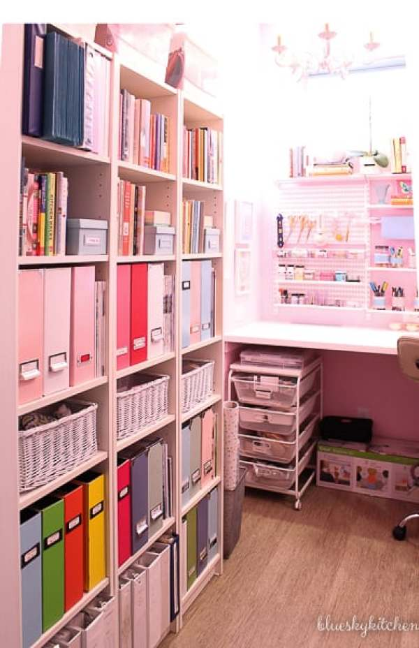 Home Office Reveal Billy bookcases.