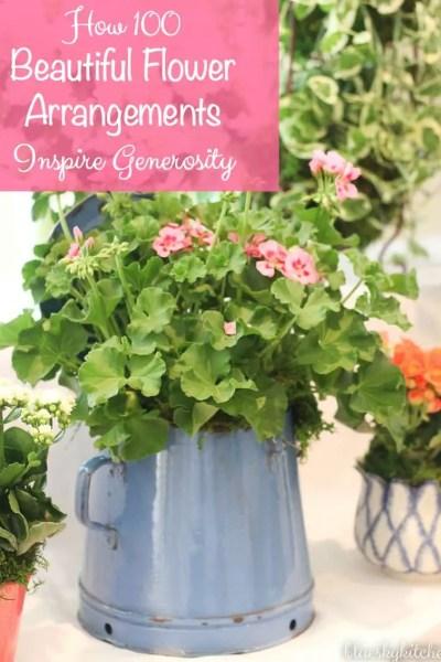 How 100 Beautiful Flower Arrangements Inspire Generosity
