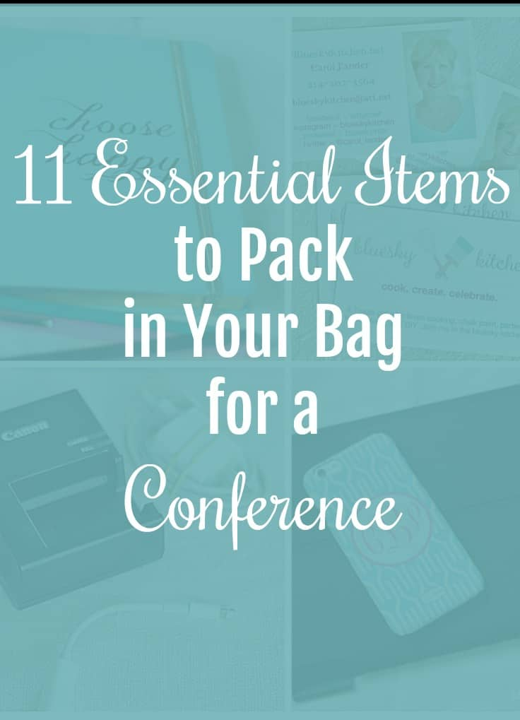 11 essential Items to Pack in Your Bag for a Conference ~ what you should take to a conference and why; things you should do when you are at a conference.