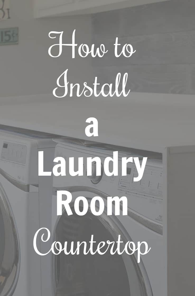 How to Install a Laundry Room Countertop. 2 not-so-handy people install a laundry room countertop with great results and several lessons learned.