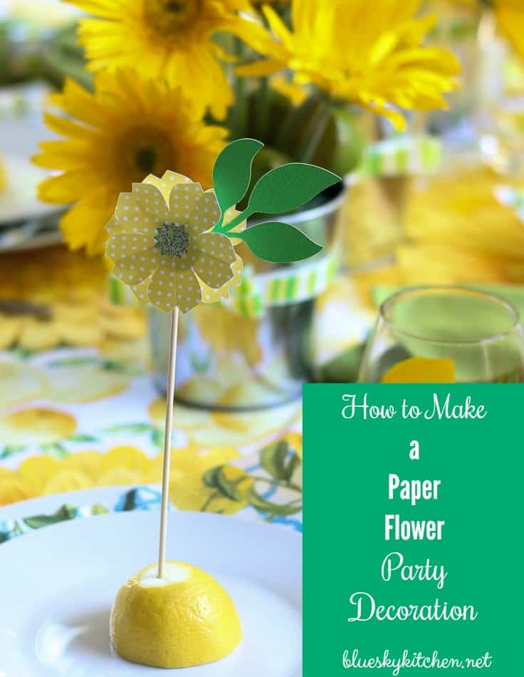 How to make the cutest paper flower party decorations bluesky at home how to make a paper flower party decoration using cricut explore air you can mightylinksfo