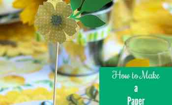 How to Make the Cutest Paper Flower Party Decorations