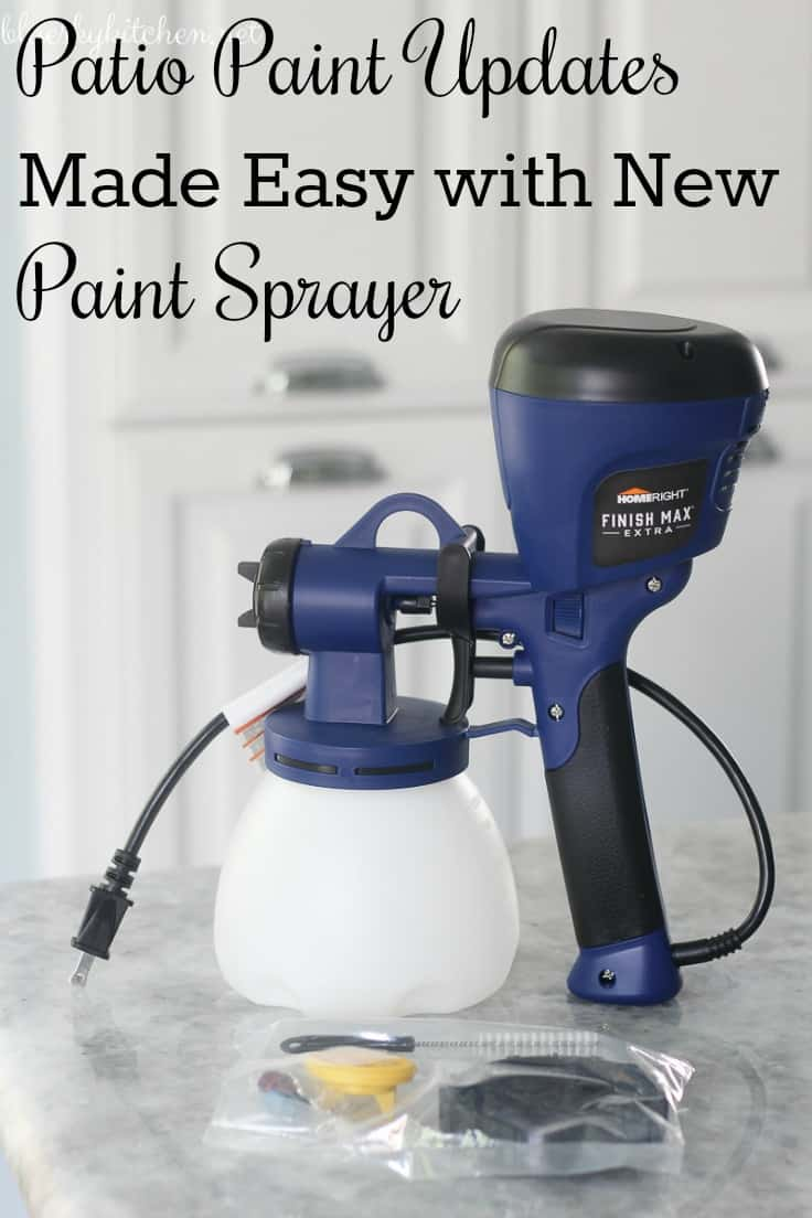 Patio Paint Updates Made Easy with New Paint Sprayer. Finish Max Extra made repainting several patio pieces so fast and easy. Great tool for DIY projects.