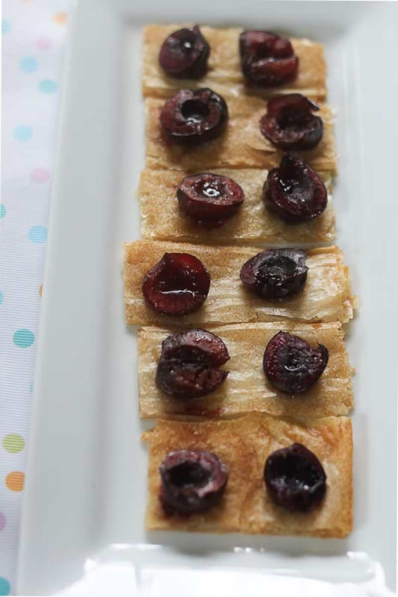 Quick and Easy Cherry Dessert Made with Phyllo Dough.