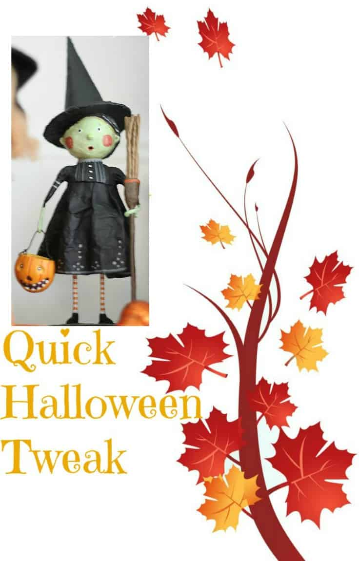 Quick Halloween Tweak Before Thanksgiving Blog Hop. Halloween gets a few changes and additions decorations before trick or treating. BlueskyatHome.com