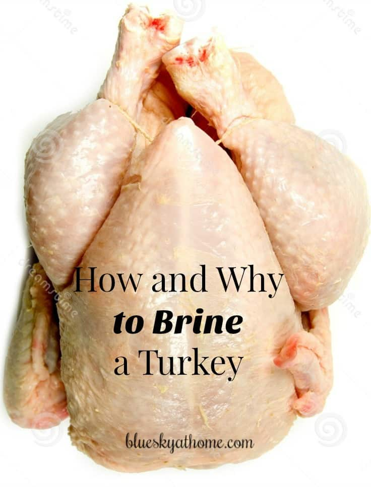 How to Brine Your Turkeyand Why You Should. Brining your turkey will make a big difference in producing a moist and juicy bird. BlueskyatHome.com