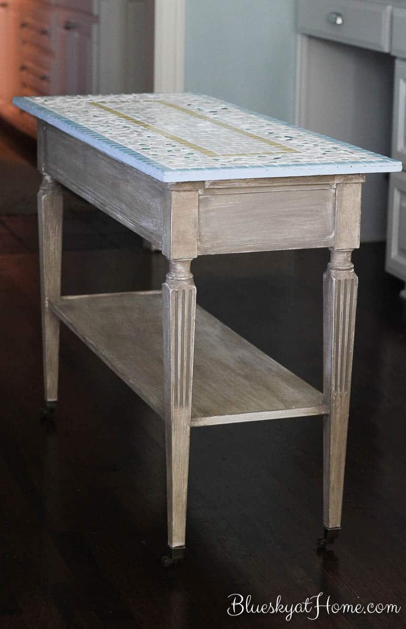 kitchen console portable island how to turn a table into bluesky at home