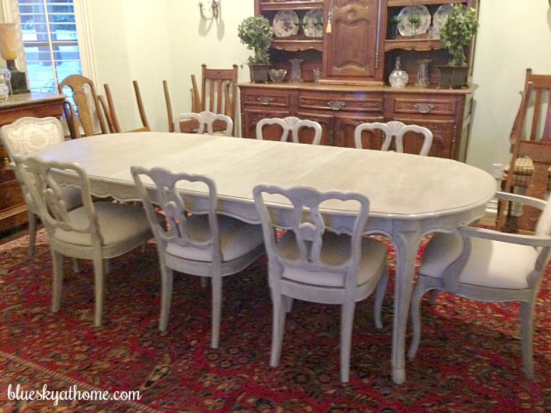 How I Transformed a Vintage Dining Table with Paint ~ Bluesky at Home