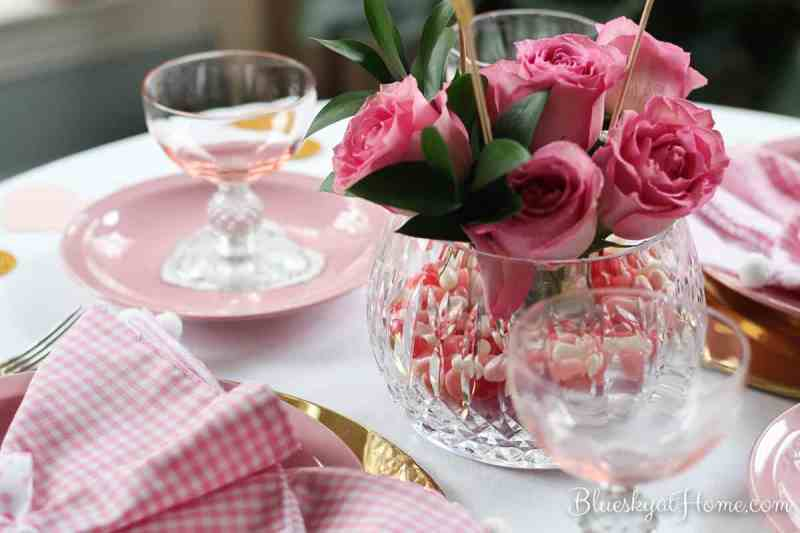 Valentine's Tablescape ~ A Romantic Brunch for 2. Join me as I share the setting and the menu for a sweet way to start the day to celebrate Valentine's Day with your loved one. It's a relaxed atmosphere with a bit of bubbly to toast your relationship on a pitch perfect pink tabletop. BlueskyatHome.com