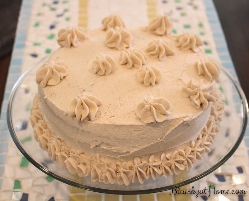 The Best Cake Recipe You Will Ever Make for Father's Day. Cinnamon Layer Cake is absolutely amazing. BlueskyatHome.com #bestcake #cakerecipe #cinnamoncake