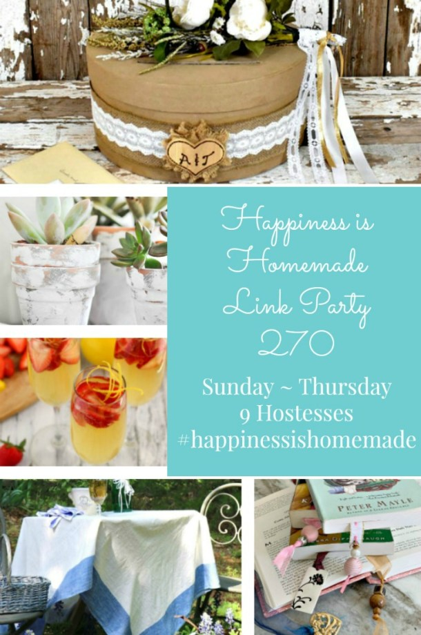 Happiness is Homemade Link Party 270 graphic