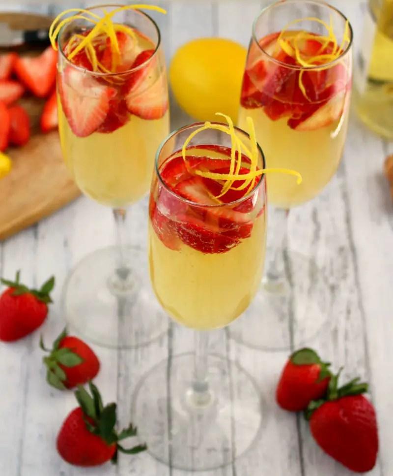 strawberry limoncello cocktail