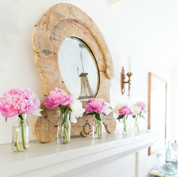 summer mantle with peonies