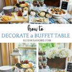 How To Decorate A Buffet Table For A Casual Fall Party Bluesky At Home