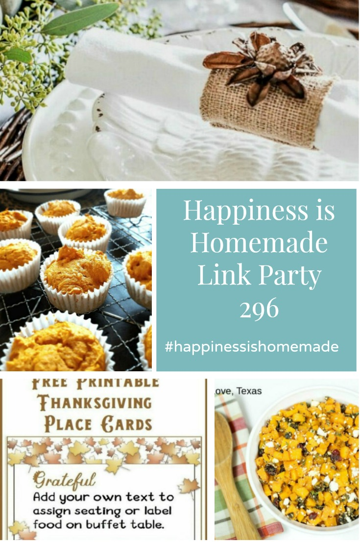 Happiness is Homemade Link Party 296