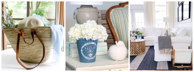 collage of three home decor images