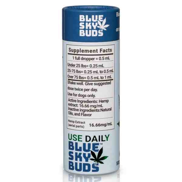 Hemp Oil For Pets & Dogs – THC Free | Blueskybuds