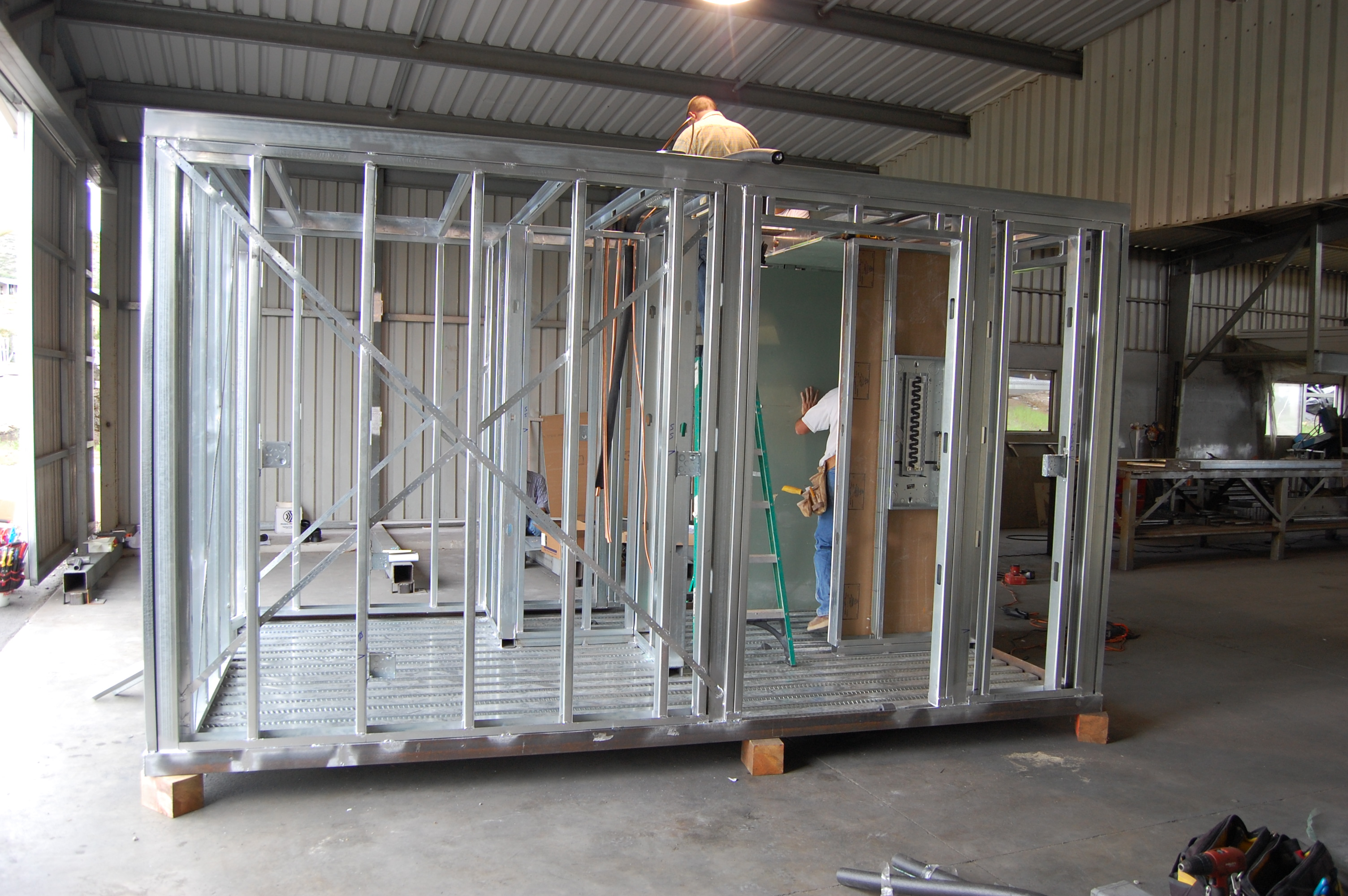 Our core module under construction this week.