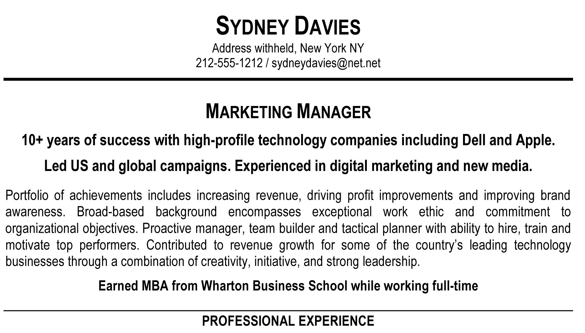 Summary For Marketing Resume How To Write A Resume Summary That Grabs Attention Blue
