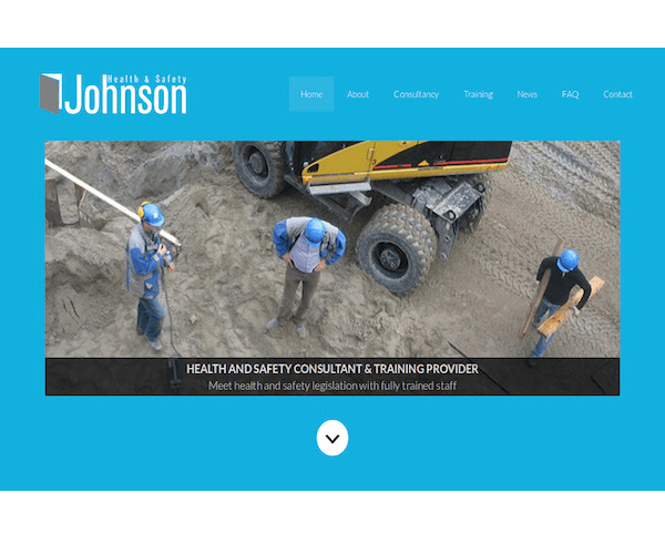Screenshot of Johnson Health and Safety