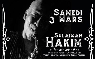 Sulaiman Hakim, le 3 mars à Queyssac